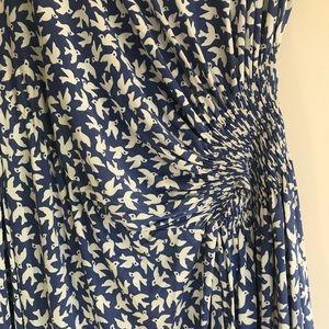 Anthropologie Dresses - 🐦 Anthropologie Bird Dress Large Blue